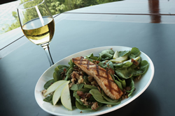 The spinach salad is light lunch or dinner - perfect to energize you!