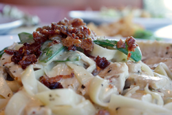 The Carbonara is a guest favorite.